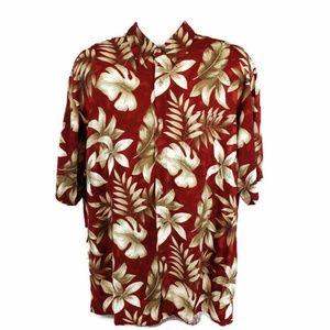 Croft&Barrow Men's L Button Up Hawaiian Shirt